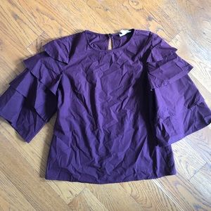 Ruffle Sleeve Blouse by Allison